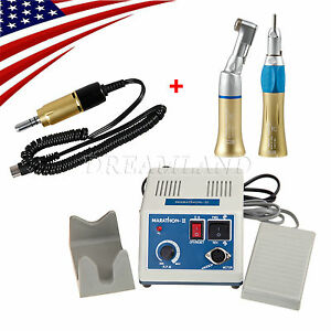 Us Gold 35k Rpm Dental Lab Marathon N3 Micro Motor Straight Contra Handpiece