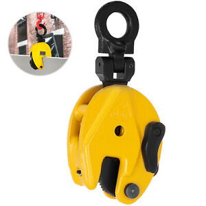 Industrial Vertical Plate Lifting Clamp Steel 0 8t Steel W Lock Heavy Duty