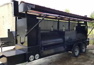 Mega T Rex Pro Roof Bbq Smoker Cooker Grill Trailer Mobile Food Truck Business