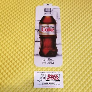 Royal Vendors Soda Vending Machine diet Coke Caff Free 20oz Bottle Vend Label