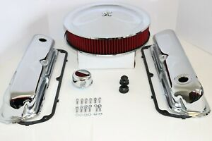 Sb Ford Chrome Engine Dress Up Kit Valve Covers Washable Air Cleaner Sbf 289 302