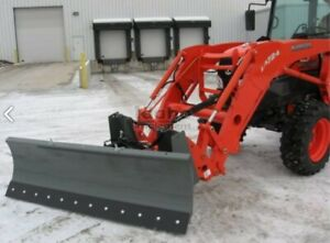 7 6 Snow Plow For Skid Steer Or Tractor With Quick Attach Includes Hydraulics