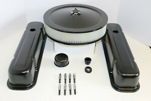 Pontiac Black Engine Dress Up Kit Tall Valve Covers Air Cleaner 326 350 400 455