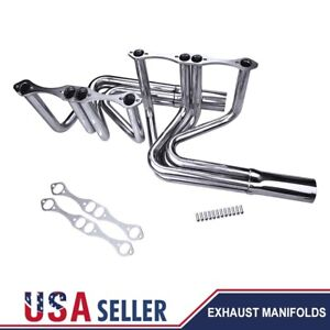 For Chevy Small Block 265 400 V8 Enginet Bucket Roadster Exhaust Manifold Header