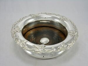 Antique English Osp Old Sheffield Plate Fused Silver 7 Champagne Wine Coaster