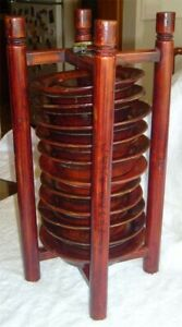 Antique Chinese Wood Plates Stand