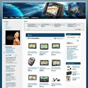 Established Gps Gadget Store Online Business Website For Sale Free Domain Name