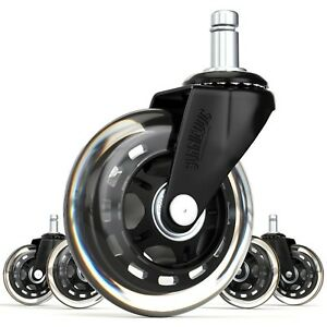 5 Replacement Caster Wheels Office Chair Desk Rolling Heavy Duty For All Floors