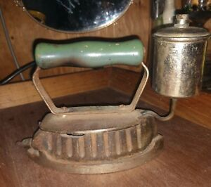 Antique Cast Iron Coal Burning Clothes Iron And Gas Iron Unique