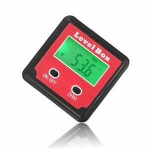 Magnetic Angle Finder Digital Protractor Bevel Box Level Measuring Outdoor Tool