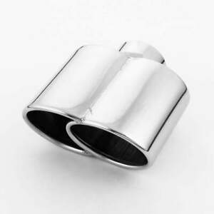 2 5 Inlet 304 Stainless Steel Exhaust Tip Oval 6 1 x3 25 Out Weld On 6 61 L