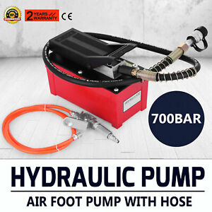 Air Hydraulic Foot Pump With Hose And Coupler 10000 Psi 1 2 Gal Post