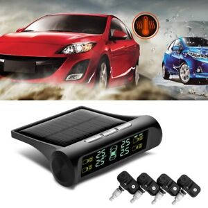 Solar Power Tpms Tyre Pressure Monitor Lcd Display Car Security Alarm System M2