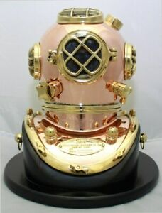 Deluxe Mark V Dive Helmet With A Wooden Base 10