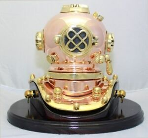 Deluxe Mark V Dive Helmet With A Wooden Base 75