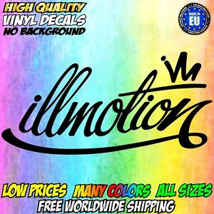 Illmotion Vinyl Sticker Big Window Decal Car Jdm Euro Drift Stance Drift Bumper
