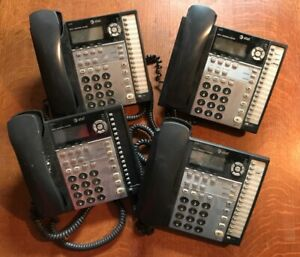 Lot Of 4 At t 1070 Small Business Phone 4 line Used