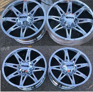 20 Dpr Wheels Rims Chrome Plated Alloys Off Road Offroad 6x135 Fuel Method Moto