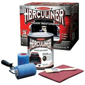 Herculiner Hcl1b8 Brush On Bed Liner Kitw Resistant Protective Coating