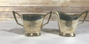 Mode Wallace Cream And Sugar Set Silver Plate Epns N66970