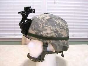 US Military MSA Mich ACH Advanced Combat Helmet with NVG Rhino Mount - Large