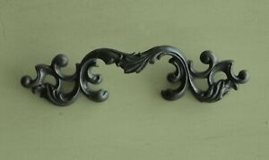 Eight 8 Large Vintage Ornate Architectural Brass Furniture Drawer Pull Handles