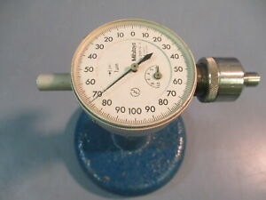 Mitutoyo 2109 10 Micron Dial Indicator 0 1mm Stand