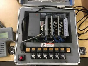 Allen bradley Plc 1747 demo 3 Slc500 Training Kit With Pt1 Programmer