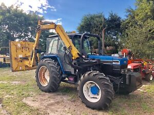 Ford 8240 Tractor With Alamo Ditch Bank Mower
