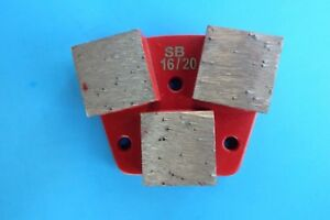 16 20 3 Big Segment Soft Bond Diamond Tool trapezoid Metal Bond concrete Grind