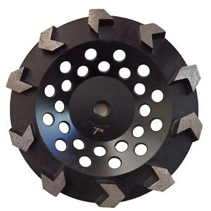 7 Arrow Cup Wheel For Coating Removal Grinding Concrete Prep 5 8 11 Threaded