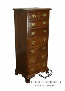 Stickley Solid Cherry Chippendale Style Lingerie Chest
