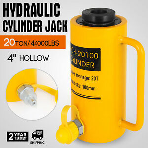 20 Tons 4 Hollow Hydraulic Cylinder Jack Bending Safe 100mm 4inch Stroke Ram