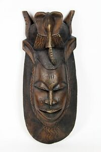 Vintage Primitive African Carved Wood Tribal Mask Large Art Home Decor 27