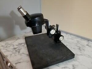 Bausch Lomb 2x Stereozoom Microscope With Kt Stand 10x Wf Oculars