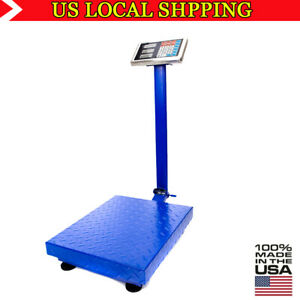 Industrial Platform Scale 661lb Lcd Digital Shipping Floor Accurate Warehouse
