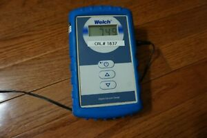 Welch Digital Vacuum Gauge Electronic Mm Hg Pressure Meter