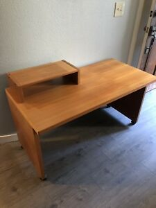 Jesper International Teak Computer Desk Mid Century Mod Danish Original 1970s