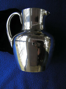 Alvin Sterling Silver Overlay Glass Pitcher
