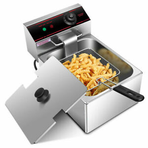 2500w Deep Fryer Electric Commercial Tabletop Frying W Basket Scoop Restaurant