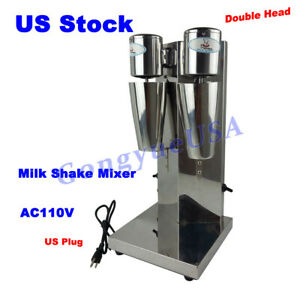 110v Double Motor Head Milk Shake Mixer Seperate Control Machine With 2pcs Cups