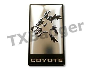 Mustang F 150 Coyote Grille Trunk Badge Emblem Silver Txbadger