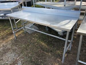 Stainless Steel 69 X 24 Commercial Heavy Duty Commercial Food Prep Work Table