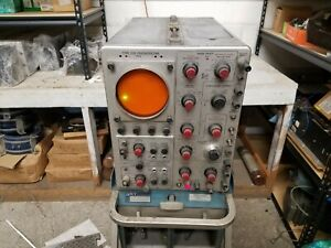 Working Tektronix 535 Oscilloscope Vintage With Rolling And Tilting Rack