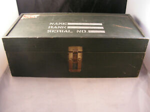 VINTAGE GREEN WOODEN GI AMMO OR WEAPON BOX NICE USED CONDITION