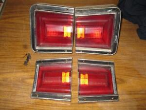 1967 Dodge Coronet Station Wagon Taillight Set All 4 Nice No Damage 1 Year