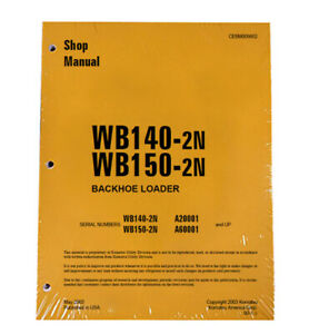 Komatsu Wb140 2n Wb150 2n Backhoe Workshop Repair Service Manual Cebd009802