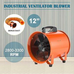 12 Extractor Fan Blower Ventilator 5m Duct Hose Low Noise High Rotation