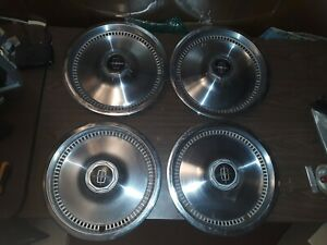 1975 1979 Lincoln Continental Town Car Coupe Towncar Hubcap Hub Cap Set Nice