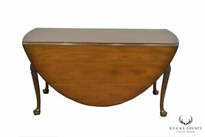 Kittinger Colonial Williamsburg Cw117 Mahogany Large Drop Leaf Dining Table